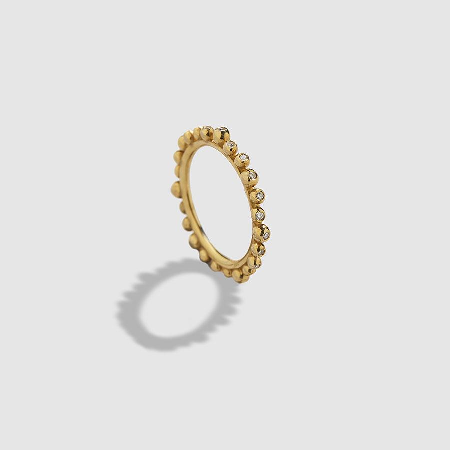 HUFFY-Cybele Ring W/Full Diamonds