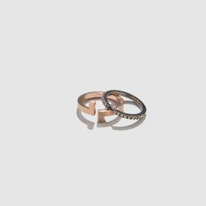 POLINA SAPOUNA ELLIS-Antithesis Set of Two Diamond Ring
