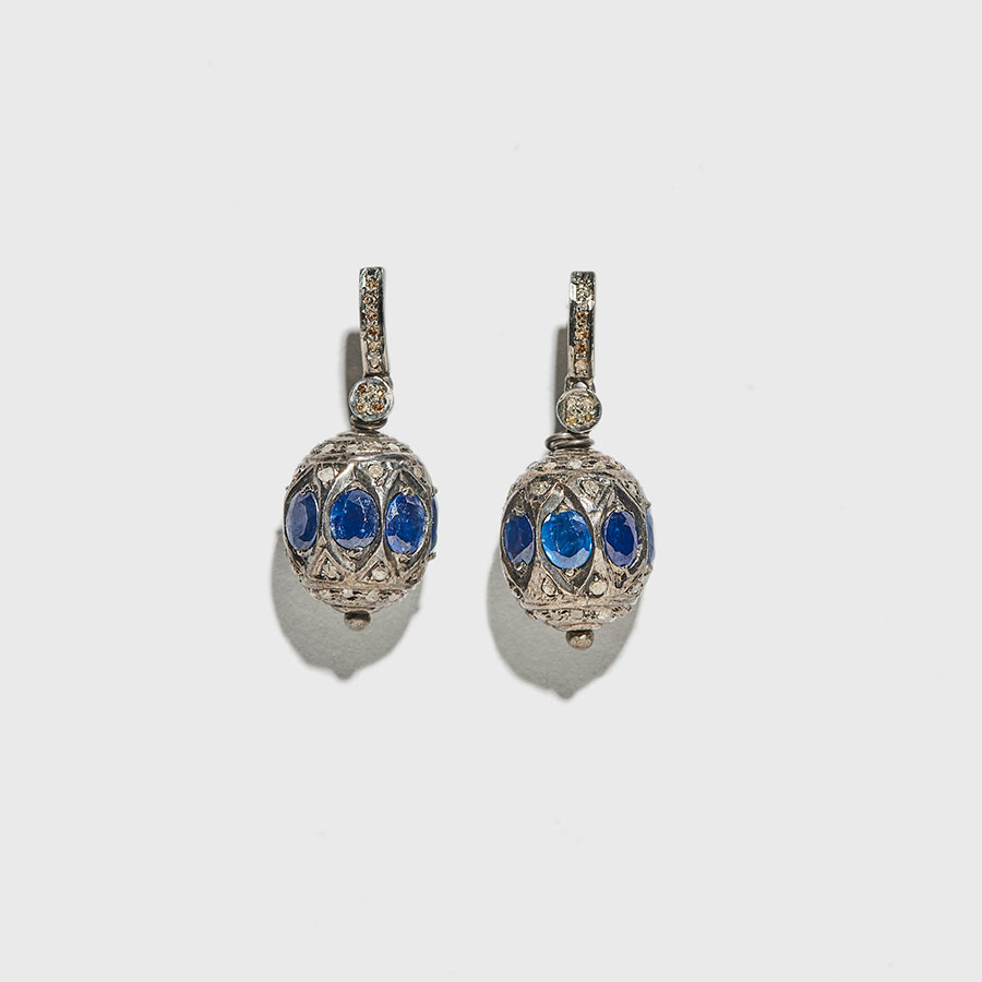 Blue Chandelier Earrings I D Concept Stores