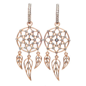 Dolly Boucoyannis Rose Gold Separate Dreamcatchers Earrings DBDCE05