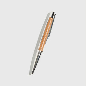 S.T.DUPONT-Defi Perforated Leather and Palladium Finish Ballpoint Pen