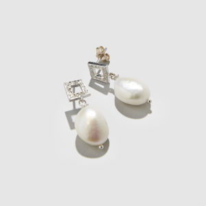 DOLLY BOUCOYANNIS-Diamonds and Pearls Earrings
