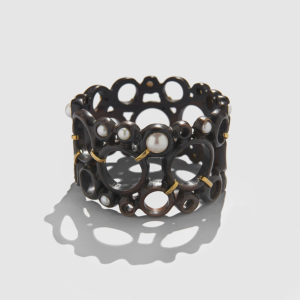 MARLEN HT Ebony and Pearls Bracelet
