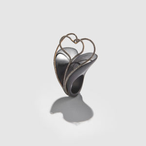 MARLEN HT-Heart Ebony Ring