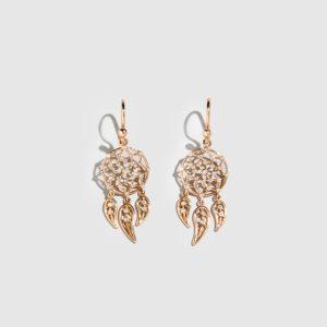 DOLLY BOUCOYANNIS-Mini Hoop Dreamcatchers Earrings
