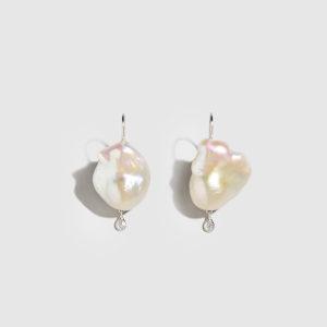 DOLLY BOUCOYANNIS-Pearl-Diamond Drop Earring