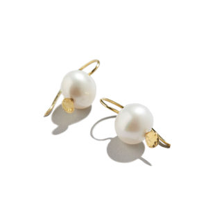 Dolly Boucoyannis Hammered Pearl Earrings