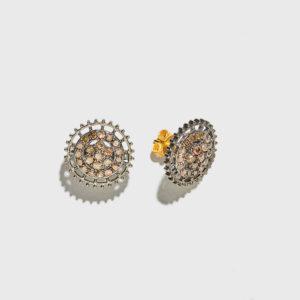 Rising Sun Stud Earrings