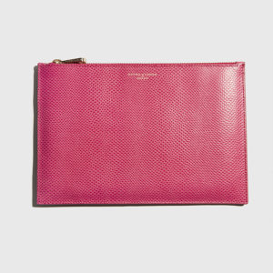 ASPINAL-Wallets and Purses Essential Pouch Large Lizard Raspberry
