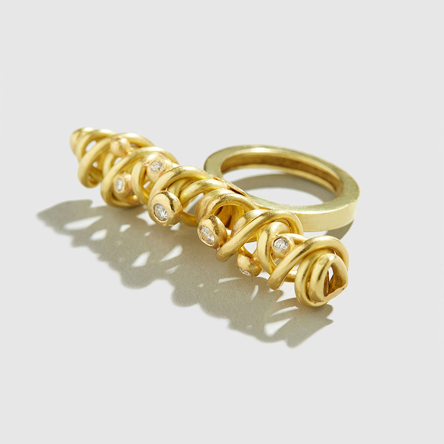 DOLLY BOUCOYANNIS-Whirling Wires Ring