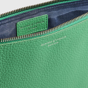 ASPINAL-Wallets & Purses Essential Pouch Large Pebble Green