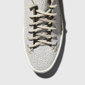 Feit - Women's Hand Sewn Low Printed Suede Grey