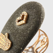 Dolly – Golden Fatima's hand-heart ring (2)