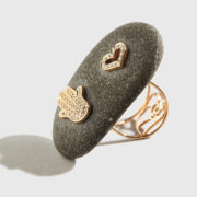 Dolly - Golden Fatima's hand-heart ring (2)