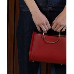 Future Glory Rockwell Mini Red Bag on model