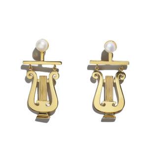 Sophia Kokosalaki Delta Lyra Earrings