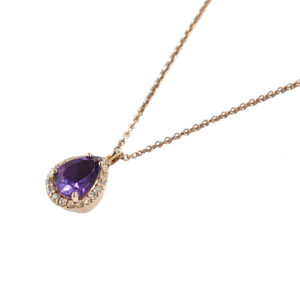 Orofasma Amethyst Drop Necklace