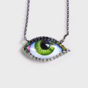 Lito---Tu-es-Partout-Blackened-Green-Eye-Necklace-Small-(5)