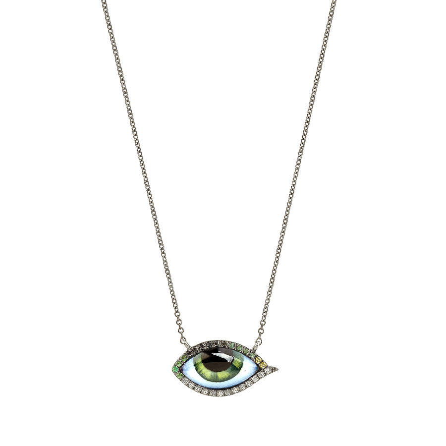 Lito Tu es Partout Petit Vert Diamond Necklace