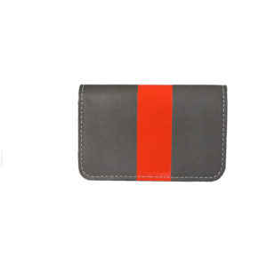Clare v Lizzie Red Glossy Stripe Charcoal Wallet