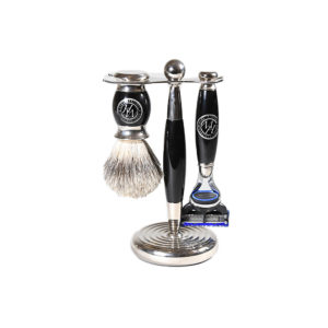 Mens Heritage Edwardian Shaving Set Black