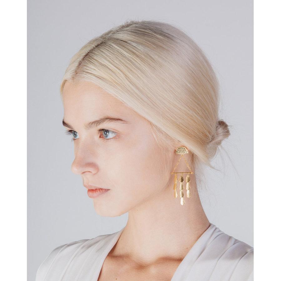 Sophia Kokosalaki Triangle Perseides Earrings on model