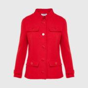 Courreges - Double Crepe Suit Rougecerise Jacket