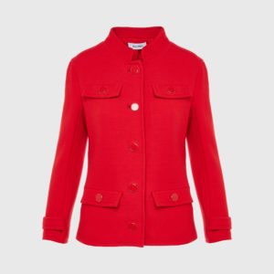 Courreges - Double Crepe Suit Rougecerise Jacket