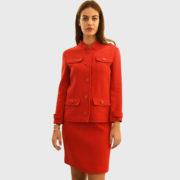 Courreges – Double Crepe Suit Rougecerise Jacket (6)