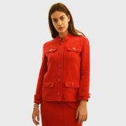 Courreges – Double Crepe Suit Rougecerise Jacket (7)
