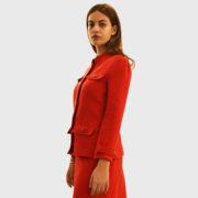 Courreges – Double Crepe Suit Rougecerise Jacket (8)