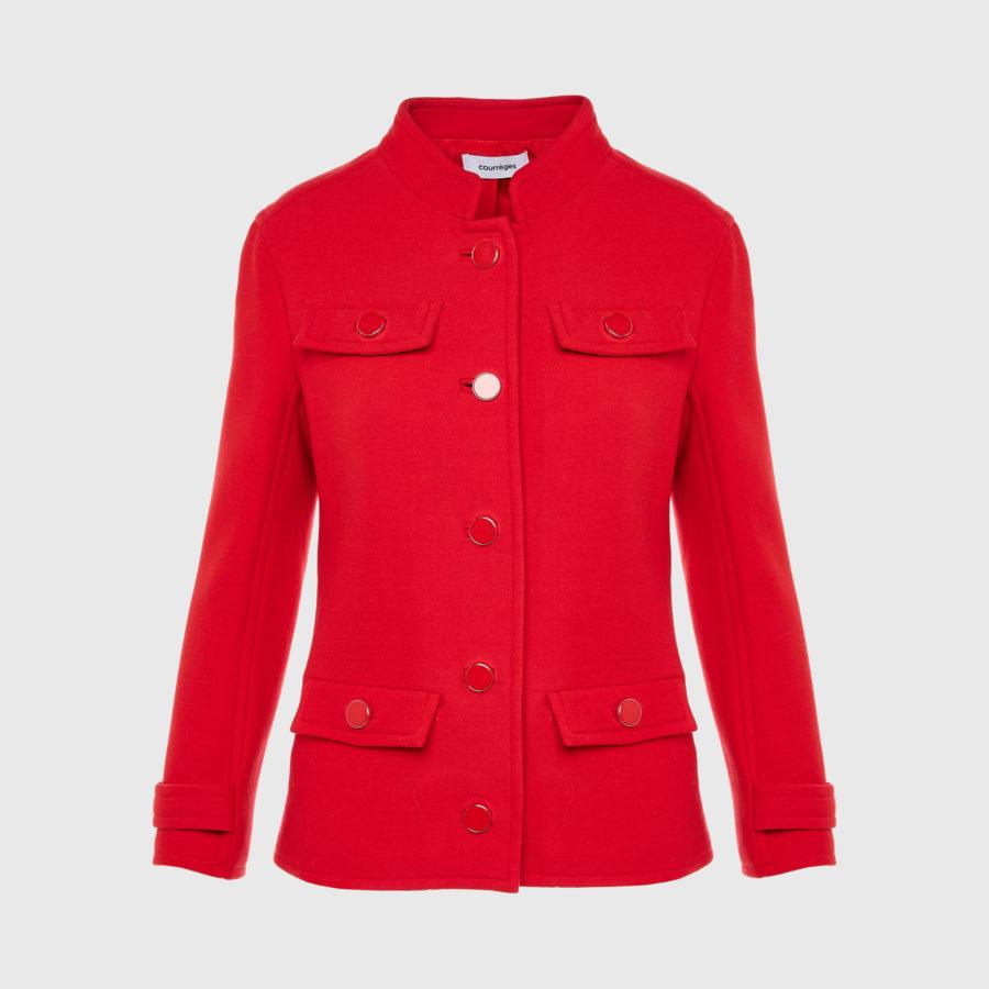Courreges – Double Crepe Suit Rougecerise Jacket