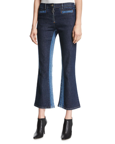 Courreges Flared Crop Jeans