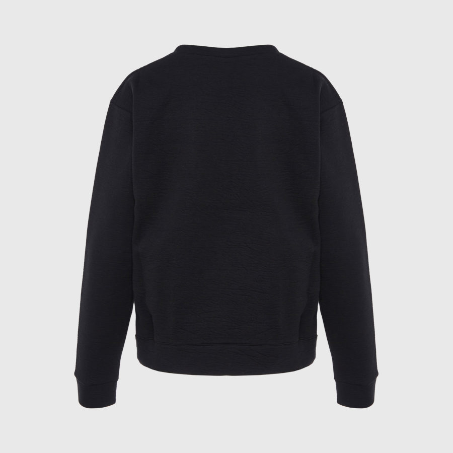 Michaela Buerger - Knitted Patch Black Sweatshirt