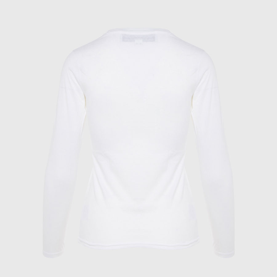 Michaela Buerger - Long Sleeve Applique White T-Shirt
