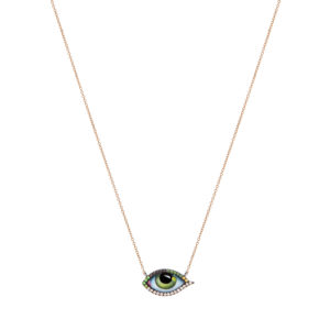 Lito Tu es partout Green Eye Yellow Gold Necklace