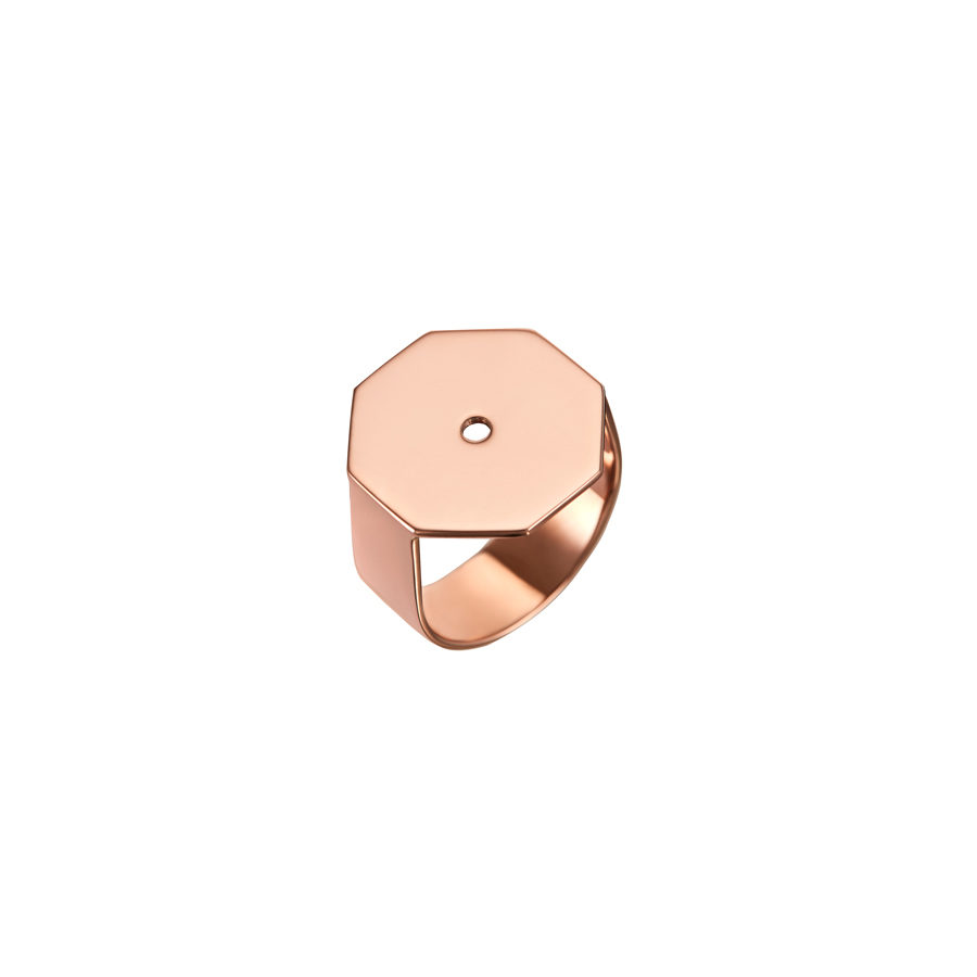 Lito Infinite Pink Gold Octagon Ring