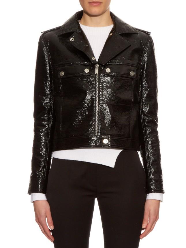 Courreges Black Patent Jacket