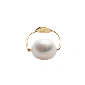 Dolly Boucoyannis Golden Fresh Water Pearl Diamond Ring DBR90