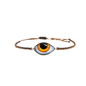 Lito Tu es partout Big Yellow Enamelled Eye Bracelet