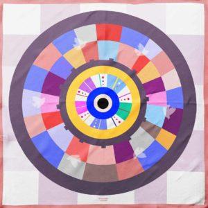 Cyclades Silk Wheel of Luck Scarf