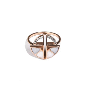 Ioanna Souflia Adieu Rose and Black Gold Ring