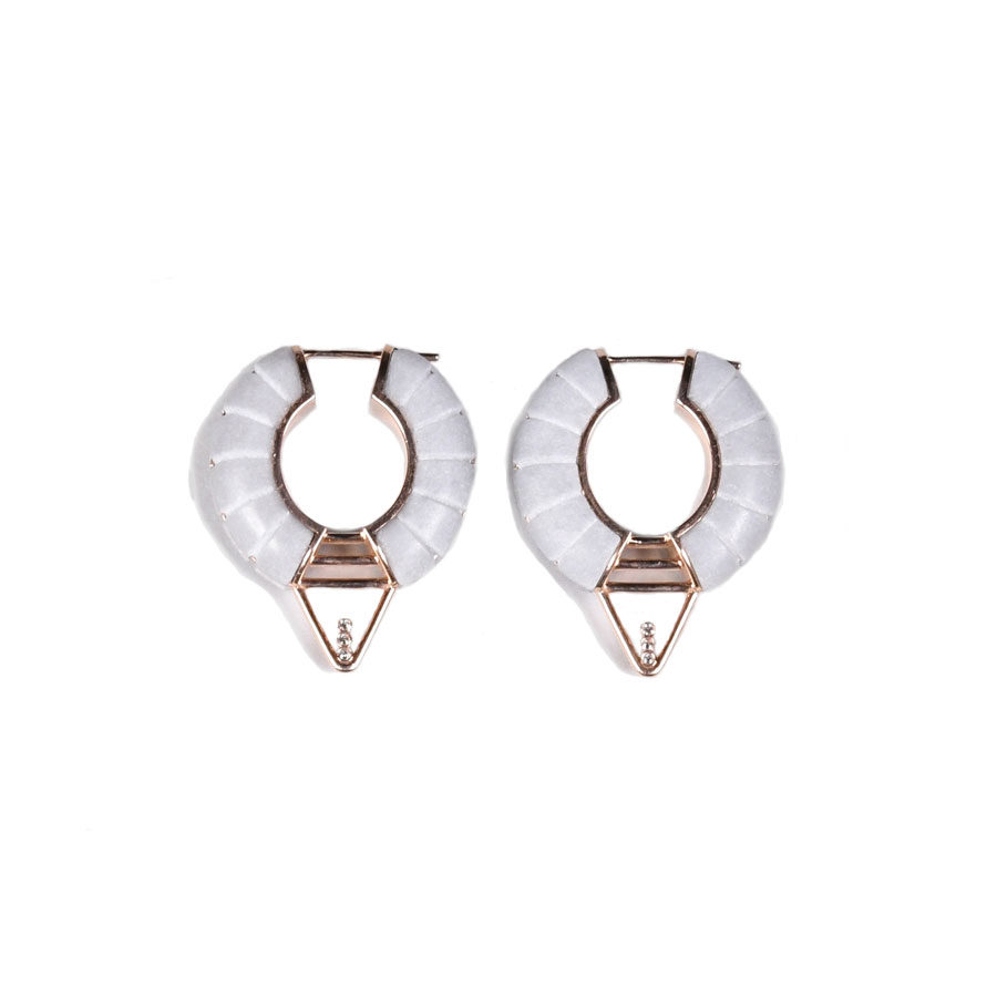 Ioanna Souflia Adoucissement Bardiglio Imperiale marble Earrings