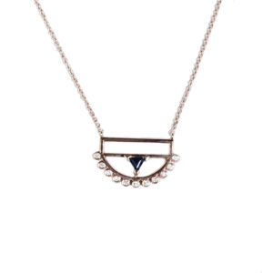 Ioanna Souflia Blueprints Rose Gold Pendant