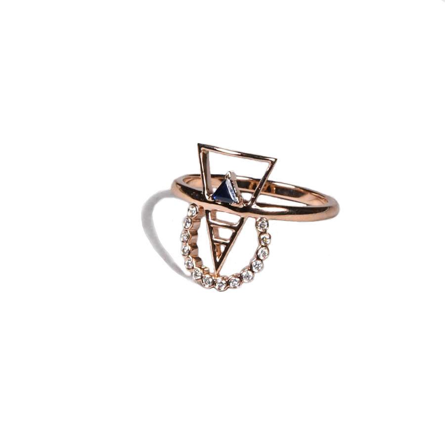 Ioanna Souflia Blueprints Rose Gold Ring