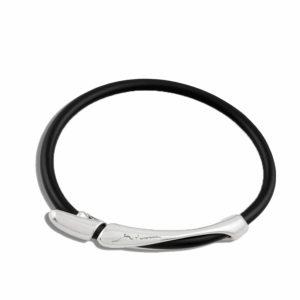 Minas Silver and Neopren Rubber B 870 Bracelet