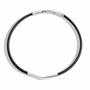 Minas Silver and Neopren Rubber C1140 Choker