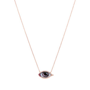 Lito Tu es Partout Small Purple Enamelled Eye Necklace