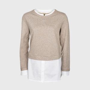 Purotatto - Adelina Gris Crew Neck Sweatshirt