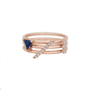 Ioanna Souflia Blueprints Sapphire Rose Gold Ring